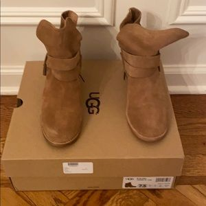 Brand New in Box NEVER worn UGG Booties with heel